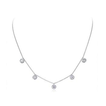 Memoire Diamond Drop Necklace