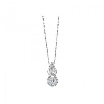 Memoire Love Knot Diamond Necklace