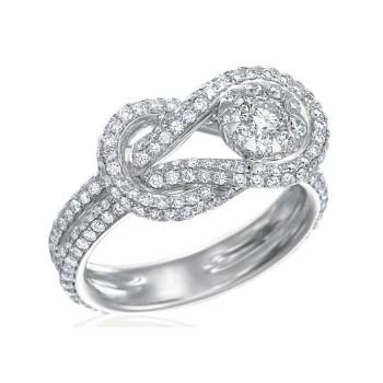 Memoire Love Knot Pavé Diamond Ring MBQ09R-0150TW