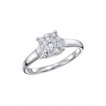 Memoire Four Prong Diamond Ring MBQ10ER-0033TW