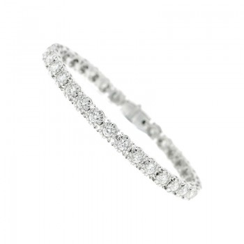 Memoire Four Prong Diamond Bracelet