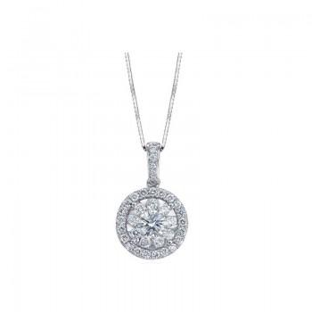 Memoire Halo Diamond Necklace
