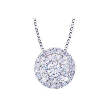 Memoire Halo Diamond Necklace