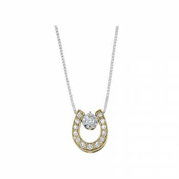 Memoire Good Luck Horseshoe Diamond Necklace