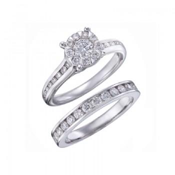 Memoire Four Prong Diamond Ring MBQ47ER-0100TW