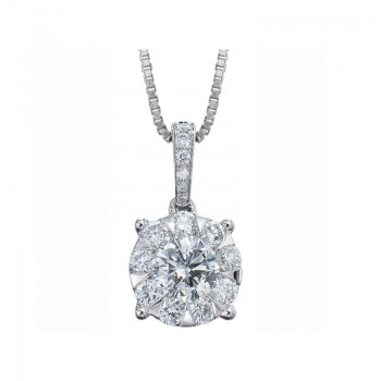 Memoire Four Prong Diamond Necklace