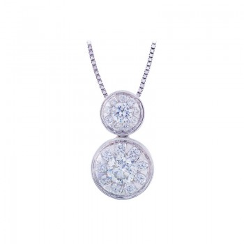 Memoire Bezel Set Mother-Child Diamond Necklace