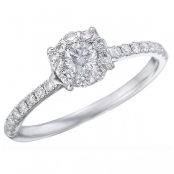 Memoire Four Prong Diamond Ring