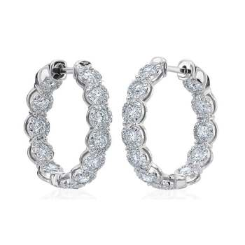 Memoire Diamond Hoop Earrings