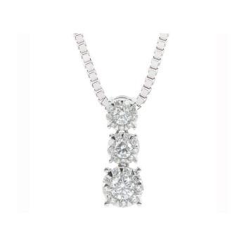 Memoire Four Prong Diamond Drop Necklace