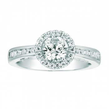 Mervis Bridal Micropave Platinum Engagement Ring