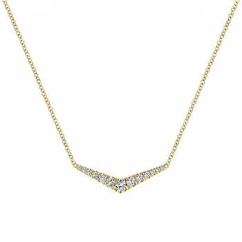 14k Yellow Gold Indulgence Bar Necklace