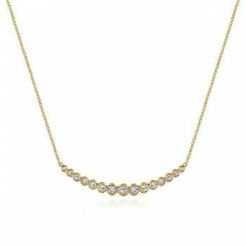 14k Yellow Gold Indulgence Bar Necklace