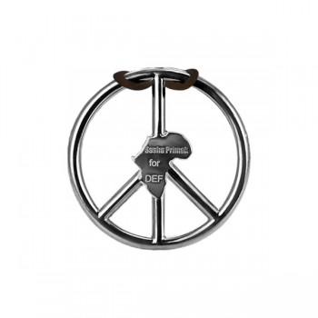 Sasha Primak Bezel-Set Diamond Enameled Africa Peace Symbol Pendant