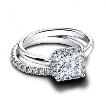 Jeff Cooper Tamara Octagonal--Tate Engagement Ring