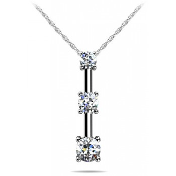.62 Carat White Gold Diamond Pendant