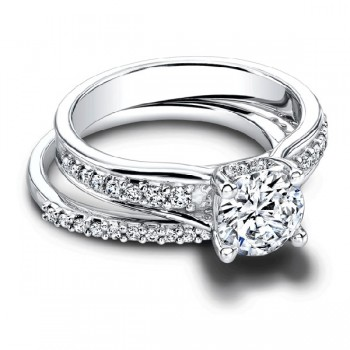 Jeff Cooper Camellia Engagement Ring