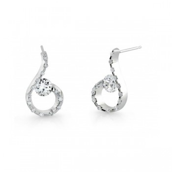 Gelin & Abaci 14K White Gold Earrings TE-020