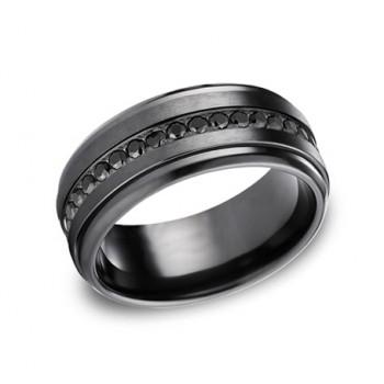Forge Black Titanium 9mm Black CZ Band