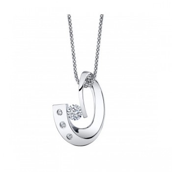 Gelin & Abaci 14K White Gold Diamond Pendant TN-021