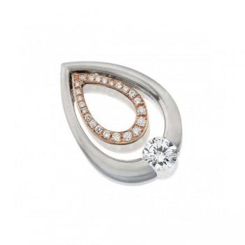 Gelin & Abaci 14K Rose Gold Diamond Pendant TN-052