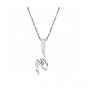 Gelin & Abaci 14K White Gold Diamond Pendant TN-057