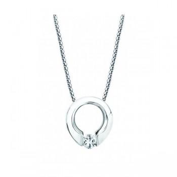 Gelin & Abaci 14K White Gold Diamond Pendant TN-002