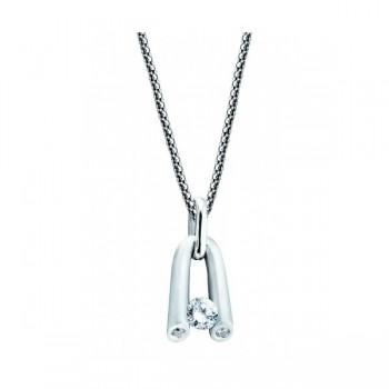 Gelin & Abaci 14K White Gold Diamond Pendant TN-033