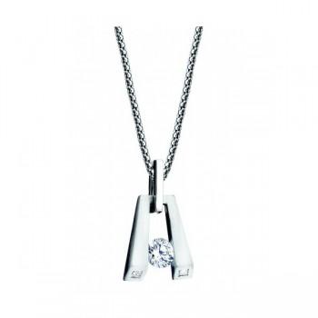 Gelin & Abaci 14K White Gold Diamond Pendant TN-034