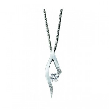Gelin & Abaci 14K White Gold Diamond Pendant TN-049