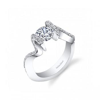 Gelin & Abaci Unique Tension Set Diamond Engagement Ring TR-261