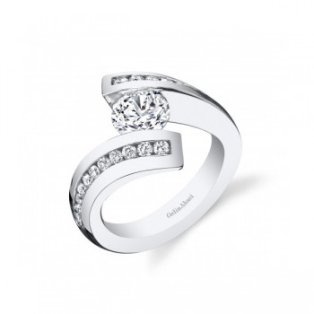 Gelin & Abaci Bypass Tension Set Diamond Engagement Ring TR-280