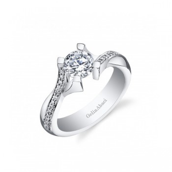 Gelin & Abaci Tension Set Diamond Twist Engaement Ring TR-267