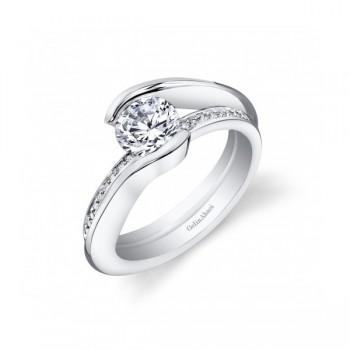 Gelin & Abaci Unique Pave Diamond Tension Set Engagement Ri... TR-268
