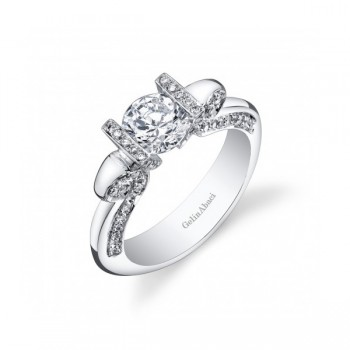 Gelin & Abaci Tension Set Diamond Engagement Ring TR-270
