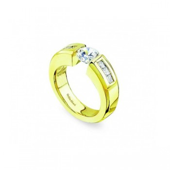 Gelin & Abaci 14K Yellow Gold Diamond Engagement Ring TR-107