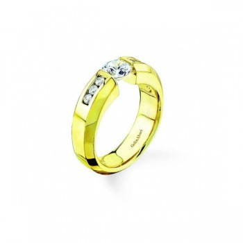 Gelin & Abaci 14K Yellow Gold Diamond Engagement Ring TR-134