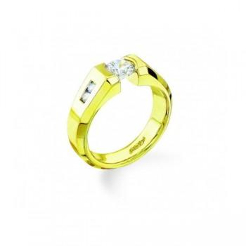 Gelin & Abaci 14K Yellow Gold Diamond Engagement Ring TR-135