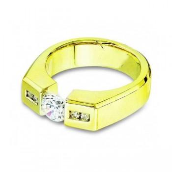 Gelin Abaci 14k Yellow Gold Diamond Engagement Ring TR-136