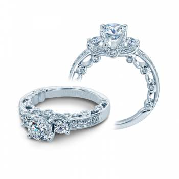 Verragio Diamond Engagement Ring with Pave Detail