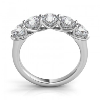 "Sasha Primak Round Diamond ""Trellis"" Five-Stone Ring"