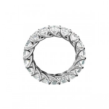 "Sasha Primak Square Radiant-Cut Diamond ""Trellis"" Eternity Band"