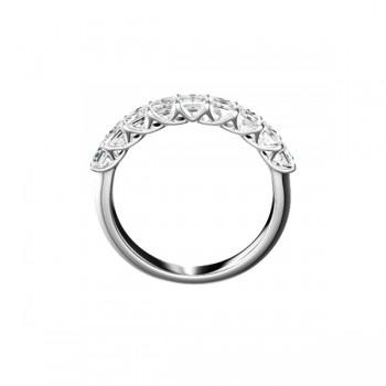 "Sasha Primak Square Radiant-Cut Diamond ""Trellis"" Nine-Stone Ring"