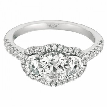 Martin Flyer FlyerFit Halo Engagement Ring CT02HMQ-C-6.5RD