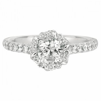 Martin Flyer Our Destiny Our Dreams Halo Engagement Ring DERM11RDQ-F-5.7RD