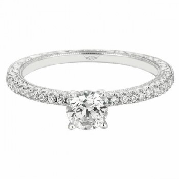 Martin Flyer Our Destiny Our Dreams hand engraved Engagement Ring DERM5XXSQ-AENG-F-6.5RD