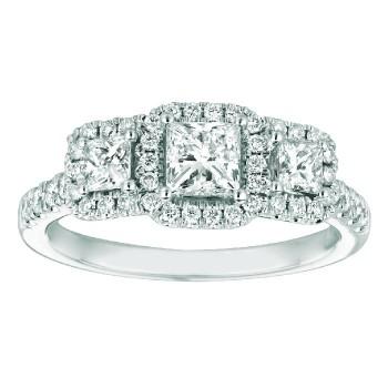 Mervis Collection Halo Engagement Ring DERT03PCQ-D-4.5PC