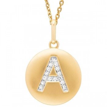 Disc Initial Letter A Necklace