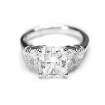 JB Star Radiant Cut Diamond Ring