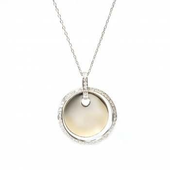 Diamond Circle Necklace - Engrave me!